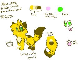 Reference Sheet: Apple by Applethecat13