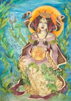 Queen of Pentacles by JessicaMDouglas