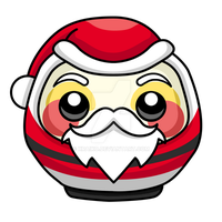 Commission: Santa Daruma by xraiko