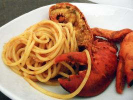 Bucatini with lobster by kivrin82