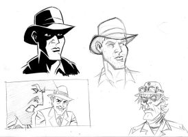 Indiana Jones Sketches 2 by cretineb