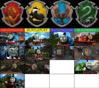 Thomas and Friends Sorted into Hogwarts Houses by RailfanBronyMedia