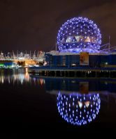 Science World in Purple by tuftedpuffin