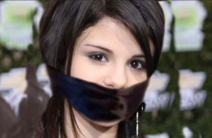 Selena Gomez cute and gagged by jackaldrin07