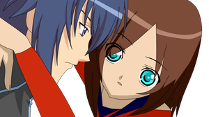 Ikuto and Akiko -Color by xAnastasia
