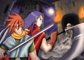 Crono and Magus by AngsTheWicked