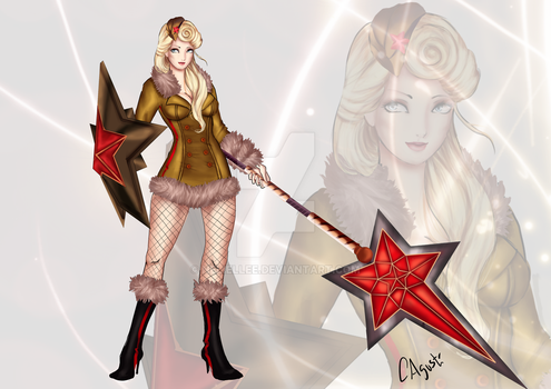 Athena, Red Star by Neliellee