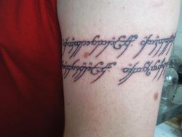 lord of the rings tattoo by jdquick