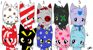 Adoptables set 1 by Manithewolf