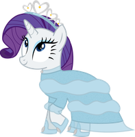 An Evening Gown for Rarity by Canterlotian