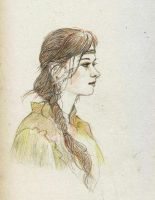 portrait of a girl by kakao-bean