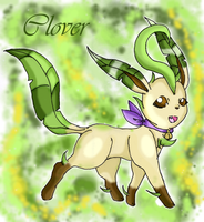 Clover the Leafeon by Inoune