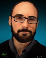 Michael from Vsauce painting by Whitesnake16