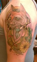 Fox memorial tattoo by theJorell