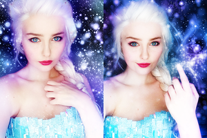 Elsa - Makeup Test by StarbitCosplay