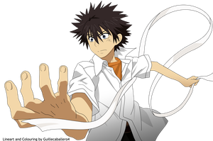 Kamijou touma Vector by guillecaballero4