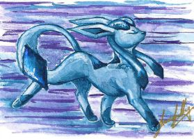 Glaceon Card by Howling-night
