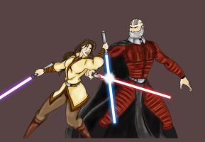 Revan and Malak battle it out. by Herbie91