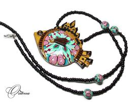 Fish Pendant 4 by OrionaJewelry