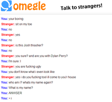 Wierd Omegle Chat XD by InvaderRain100