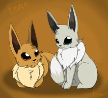 =Eevee= by annathewerewolf