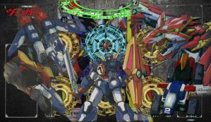 Cardfight!! Vanguard - Dimensional Robo Mat by DragonTamer256