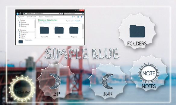 Theme ''Simple Blue'' for iconpackager by Simpleouter