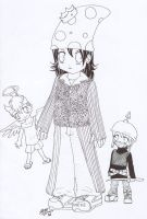 Mushroom Queen and her Minions by Zaije