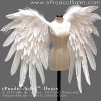 eProductSales White ORION Feather BJD Wings by eProductSales