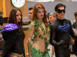 NYCC 2013 - Raven, Poison Ivy and Nightwing by SpideyVille