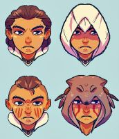 AC3- Connor Faces by cherrysplice