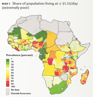 Map of Extreme Poverty in Africa by FringerFrankie