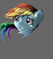 Rainbow dash head sketch by 72-Hours-Remain