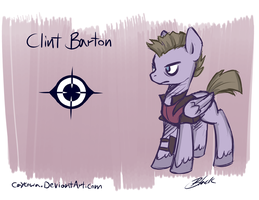Avengers/MLP Crossover - Clint Barton/Hawkeye by caycowa