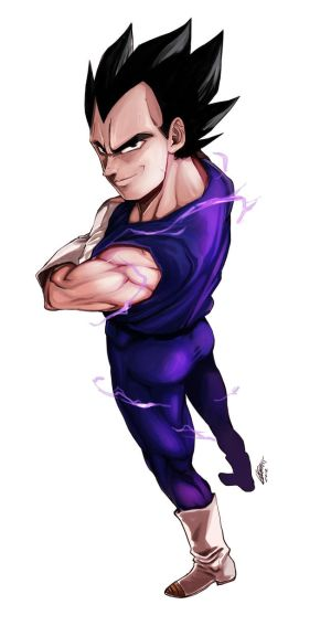 DBZ - Vegeta by Goldman-Karee