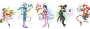 Yo-Kai Watch: Magical Girl Concept (protagonists) by Xzeit