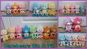 Carebears Sizes 8in and 7in Collection!! by Vesperwolfy87