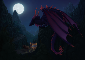 Dragon Night watcher by EleniWat
