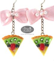 Lolita Teaparty Tart Earrings by chat-noir