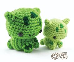 Double the Cuteness - Bulbasaur Amigurumi by mengymenagerie