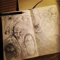 Moleskine Sketches by RiceandEggs