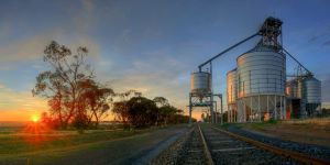 Silo Sunrise HDR by Bjay70