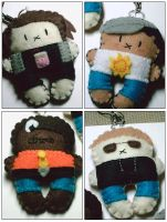 More felt keychains by hellohappycrafts