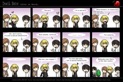 Death Note: Likes to Watch. by SilentReaper