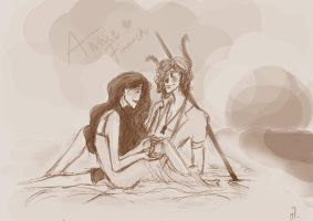 Finnick and Annie by xxIgnisxx