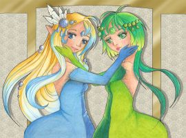 Ange and Melodie by White-Nephilim