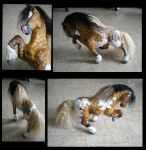 Gypsy Vanner papier mache clay sclupt by Shadowind