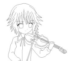 Little Ikuto -lineart- by Amu---Chii