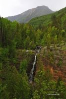 Waterfall, Rocky Mountains by TRBPhotographyLLC