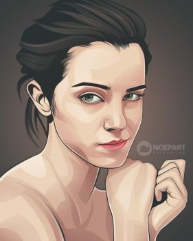 beauty vector portrait by Ncepart28